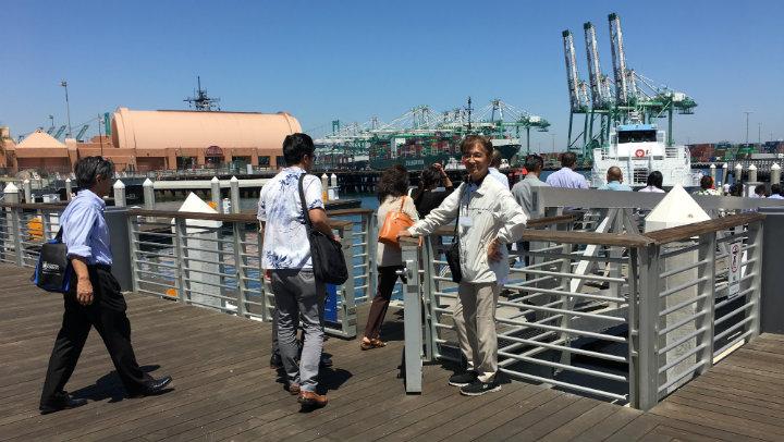 アメリカ、日本企業様のロサンゼルス港視察ツアー乗船