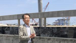 視察中Terminal Island Japanese Fishing Village Memorialにて